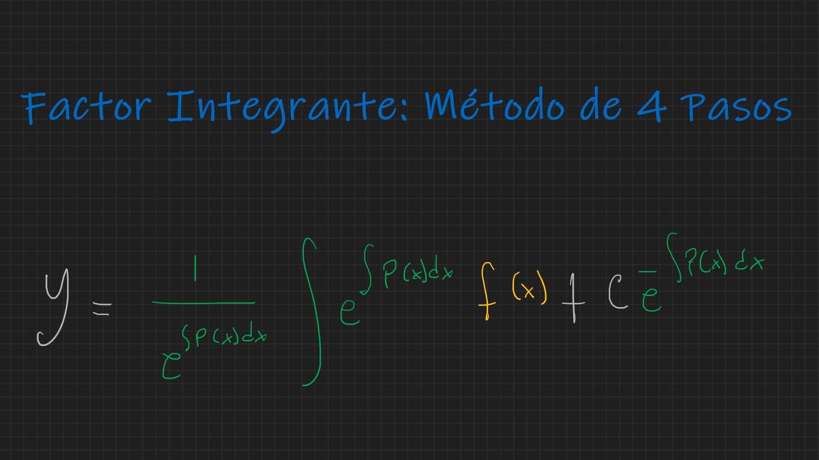 Metodo 15 pasos   Factor Integrante Resolviendo Ecuaciones ...
